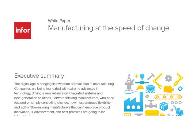 Manufacturing at the speed of change 5