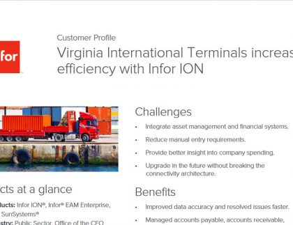 Infor SunSystem, Infor ION and Infor EAM application case study