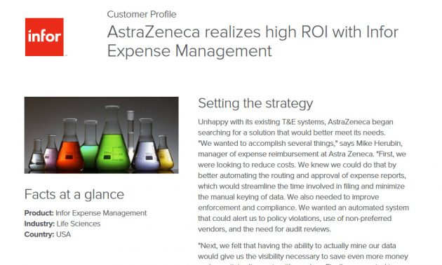 Infor Expense Management in science industry case study