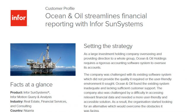 Infor SunSystems application in real estate industry case study