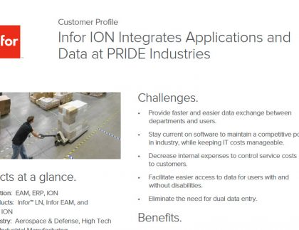 Infor ERP and EAM application in high tech industry case study
