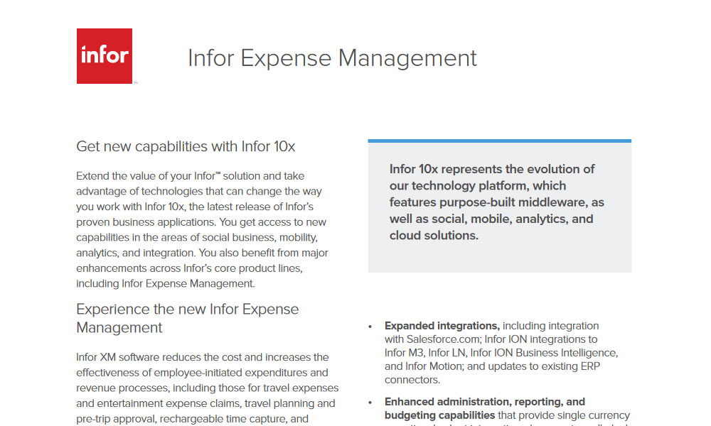 Infor CPM Planning and Budgeting | TRG International
