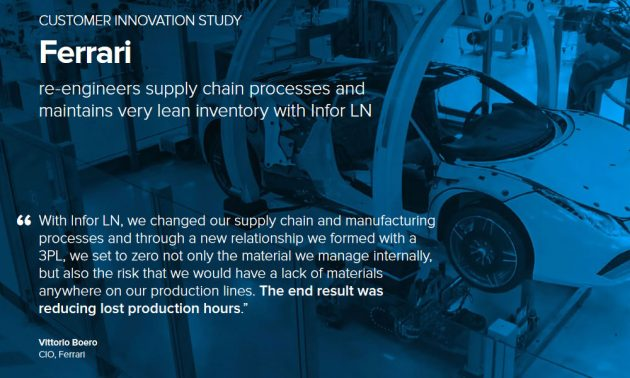Infor ERP application in manufacturing case study