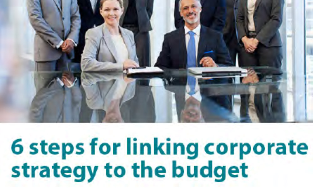6 Steps for linking Corporate Strategy to the Budget 1