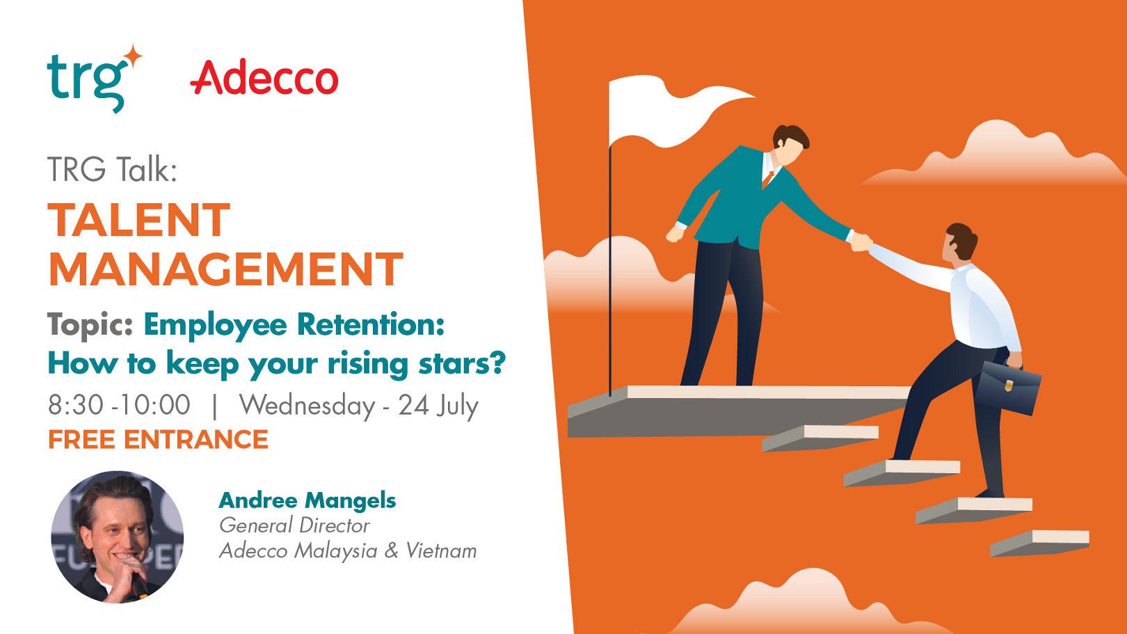 Talent management workshop event banner