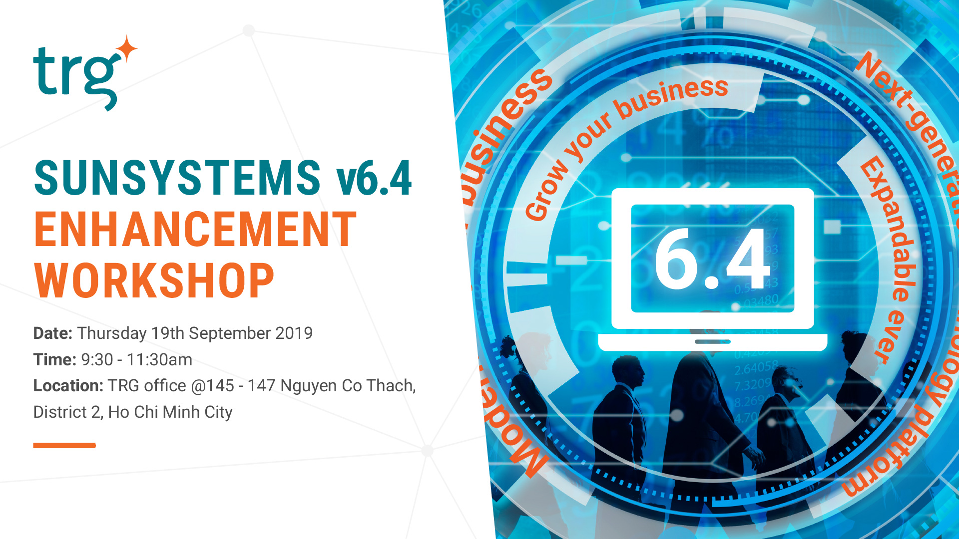 Infor SunSystems v6.4 introduction event at TRG
