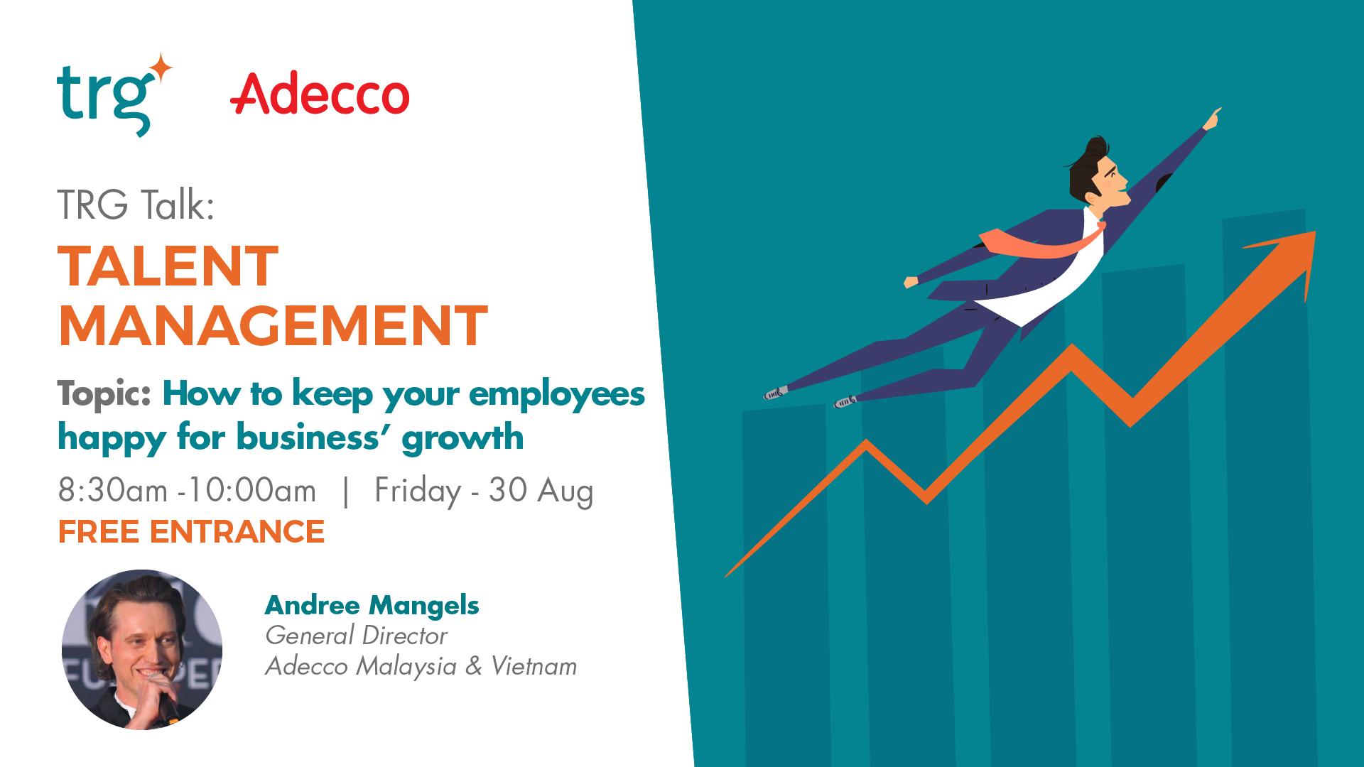 TRG Talk Talent Management event banner