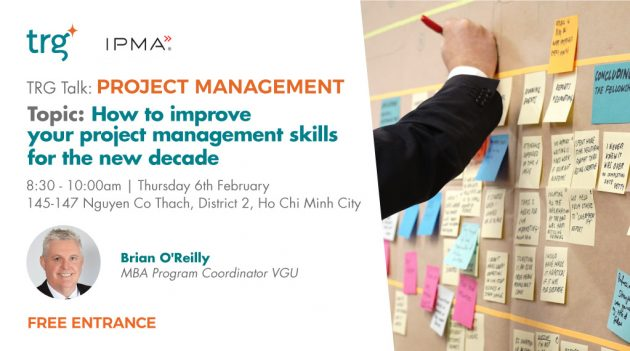 Project management talk event banner