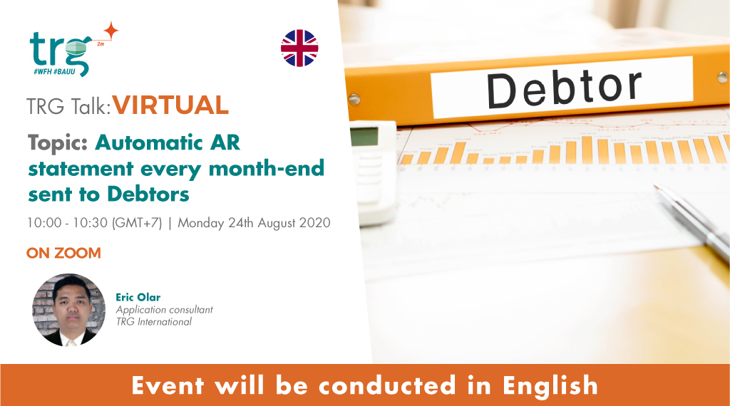 Automatic AR statement every month-end sent to Debtors 1