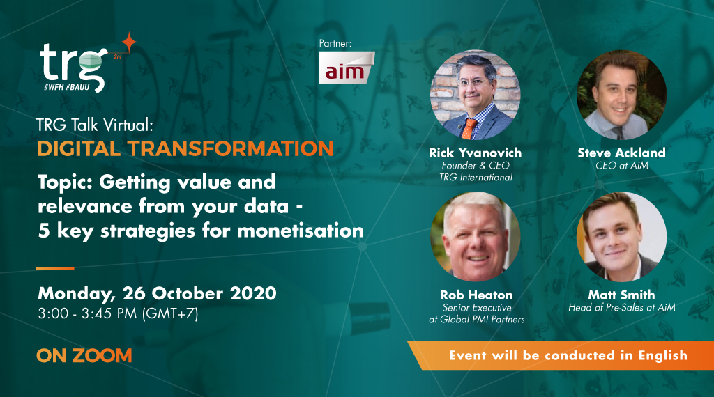 Getting value and relevance from your data – 5 key strategies for monetisation 1