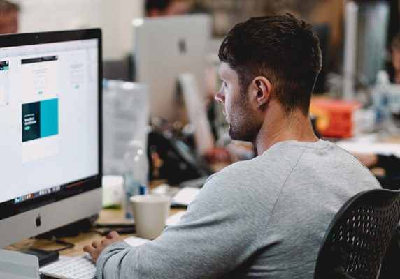Man-working-at-computer